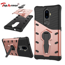 "TopArmor Case Cover For Lenovo K8 Plus 5.2"" Shock proof 360 swivel Stand Netted Armor Anti-knock For Lenovo K8 Plus Cover Bags(China)"