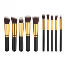 New Fashion Wood+Copper Make up Brush tool Kit Set 10pcs/set Makeup brushes Beauty Cosmetics(China)