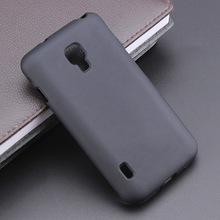 Black Gel TPU Slim Soft Anti Skiding Case Back Cover for LG Optimus L7II for LG L7 II 2 P715 Mobile Phone Rubber Silicone Bag