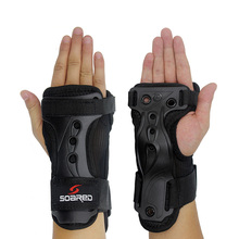 1Pair Long Skating Hand Protective Gear Hand Palm Pads Bicycle Skateboard Ice Skating Ski Roller Knee Protector Black(China)