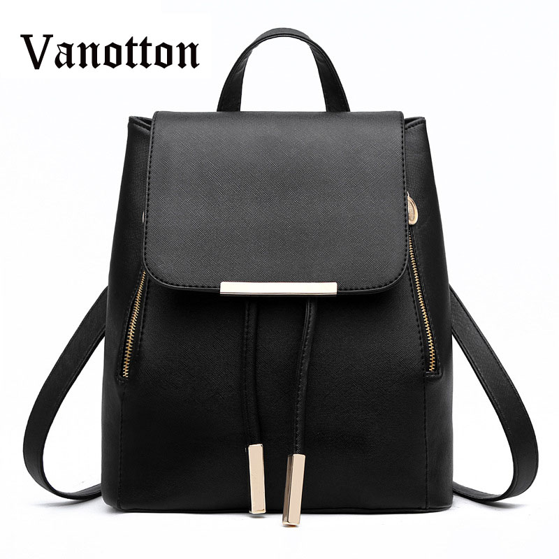 2016 New Design Pu Women Leather Backpacks School Bags Students Backpack Ladies Womens Travel Bags Leather Package Female Brand<br><br>Aliexpress