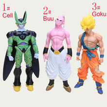44cm -47cm Super Big Son Goku Action Figure Super Saiyan Buu Cell Plastic Dragon Ball Z Collection Model Kids Toy