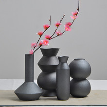 KEYBOX Matte Ceramic Flower Vase Wedding Decoration Creative Flowerpot Modern Decoration Accessories Porcelain Tabletop Vases