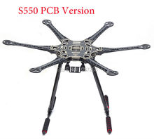 S550 F550 500 Upgrade PCB carbon fiber Hexacopter Frame Kit with Unflodable Landing Gear for FPV Mini S800(China)