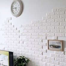 3D Wall Stickers Home Decor Wallpaper DIY Wall Brick Living Room Kids Bedroom Decorative Sticker 10PCS 70*30CM PE Foam(China)