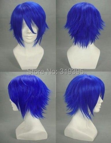 A Dark Rabbit Has Seven Lives Gekkou Kurenai Short Blue Cosplay Wig 135A<br><br>Aliexpress