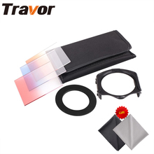 Travor Filter Set Graduated Orange Red Bule color for Canon Nikon Cokin P 49mm 52mm 55mm 58mm 62mm 67mm 72mm 77mm 82mm lens(China)