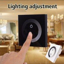 DC12-24V 4A/CH 3Channel Touch Dimmer Wall Dimmable Switch LED Dimmer For DIY Home Lighting Single Color Led Strip Controller