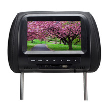 7 Inch TFT LCD Screen Car Video Products General  Car Headrest Monitor  Black color AV USB SD MP5 speaker SH7038-MP5