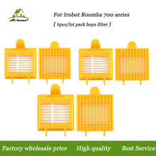 Aihome 6-pack New High Quality Hepa Filter for iRobot Roomba 700 Series (760 770 780 790) Vacuum Cleaner Robots Parts