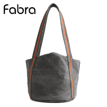 Fabra New Arrival Women Messenger Bucket Bags Canvas CrossBody Shoulder Small Handbags Folded Solid Tote 32x32x32 CM