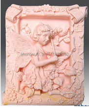 New Music Angel Craft Art Silicone Soap mold Craft Molds Handmade soap molds(China)