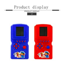 Creative Classic Gifts Tetris Handheld Game Console Baby Kids Educational Toys for Children Boys Funny Play Game(China)