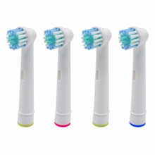 4x Replacement Brush Heads For Oral-B Electric Toothbrush Fit Advance Power/Pro Health/Triumph/3D Excel/Vitality Precision Clean