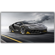 Sports Car Poster Custom Home Decoration Fashion Silk Canvas Fabric Wall Poster Car Design Wallpaper YL089(China)