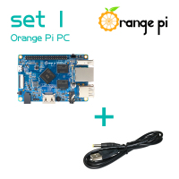 Orange Pi PC SET1: Orange Pi PC+ USB to DC 4.0MM - 1.7MM Power Cable Supported Android, Ubuntu, Debian Beyond Raspberry Pi