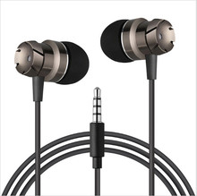 Metal In-Ear Earphone Turbine Super Bass Volume Contro Headphones with Mic for Smartphone MP3 Computer Universal Headset