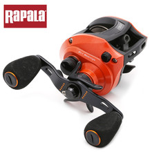 Close out! only 14 in stock Original Rapala RAGE Red Color Baitcasting Fishing Reel 6.5:1 6+1BB Graphite Material Aluminum Body(China)