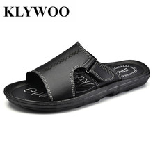 KLYWOO Plus Size 45 46 Brand Men Sandal Summer Beach Slip On Garden Shoes Casual Men Hollow Out Sandals Beach Hole Mens Slippers(China)