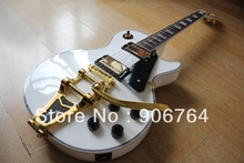 bigsby tremolo alpine white beauty LP custom shop guitar humbucker pickups free shipping block inlay gold hardare one piece neck