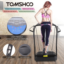 TOMSHOO 2000W Vibration Platform Slim Full Body Fitness Massage Equipment Plate Rejection Machine with MP3 Music Speaker(China)