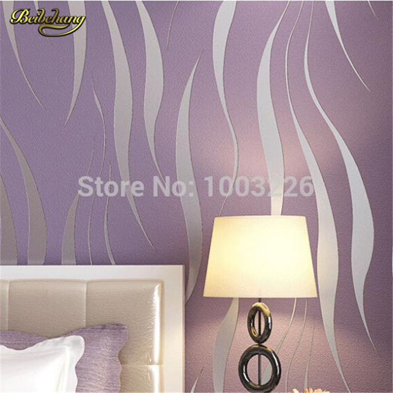 beibehang wall paper papel de parede Modern simple non-woven  embossed flocking living room bedroom wallpaper 3d wall murals<br>