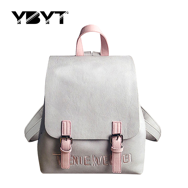 YBYT brand 2017 new small simple and stylish solid rucksack hotsale women shopping packagse ladies famous designer travel bags<br><br>Aliexpress