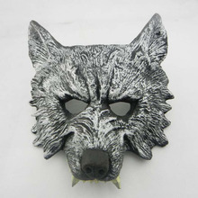 halloween scary masks half face wolf party cosplay costumes props ealistic latex masquerade masque