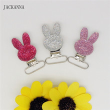 JACKANNA Funny Baby Pacifier Clips Rabbit Shape Pacifier Clips Metal Suspender Clips Dummy Soothers Clasps Accessories(China)