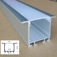 5-10Packs x 2000mm 46mm Wide,26mm Height Led Aluminum channel with diffuser , Led aluminum profile for Led housing(China)