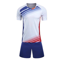 New arrival 2017 Football Jersey Men's Short sleeves Soccer Sets Quick Dry survetement football Uniforms training wear white