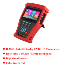 New 4.3 inch 4K H.265 Analog IP camera tester in one CCTV tester Digital multi-meter Cable tracer test security camera tester