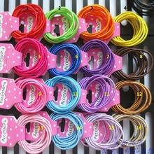 2MM high Bright Rubber Band Elastic Ring for Children Hair Rope 300pcs/lot
