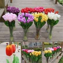 5pcs/lot Party Garden Wedding Home Decoration Tulip Artificial Flowers Decorative Flowers Wreaths Flowers 8 Colors