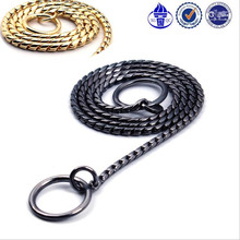 Snake Chain Durable and Non-allergenic P Choke Collar for Safe and Effective Training Gold Black 21inch 26inch