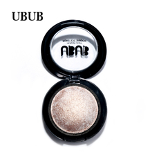 Top quality as gift 1 PC UBUB Makeup Single Baked Eye Shadow 12 Color Eyeshadow Palette in Shimmer Metallic Cosmetics