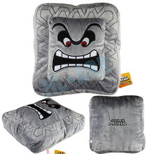 Square Plush Super Mario Bros. Thwomp Dossun Cushion Soft and Comfortable 6in