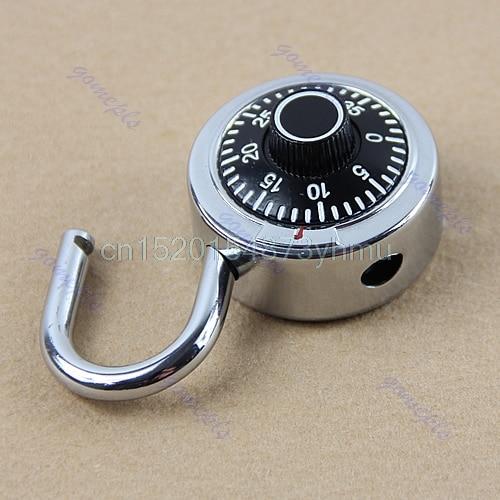 Hardened Steel Shackle Dial Combination Luggage Suitcase Locker Lock