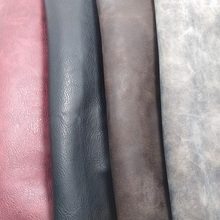 50CM X 68CM High Quality Fabric For Furniture, PU Leather Fabric, Faux Leather Fabric, Synthetic Nubuck Grain Two Tones Vintage(China)