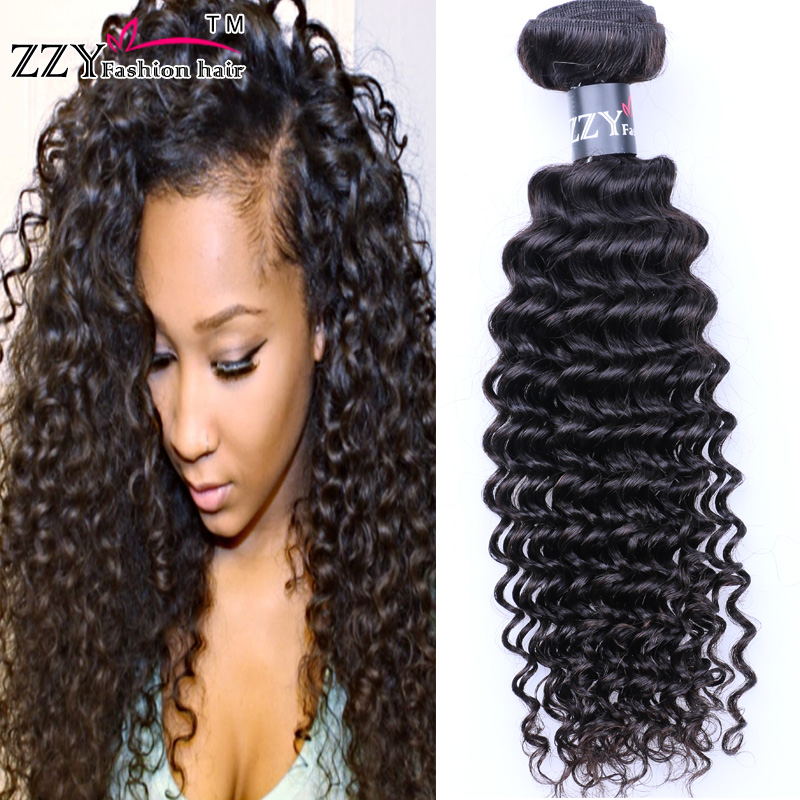 Brazilian Curly Virgin Hair 3 Bundles Rosa Hair Products Deep Wave Brazilian Hair Weave Bundles Tissage Bresilienne<br><br>Aliexpress