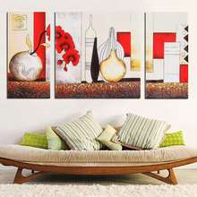 Art Canvas Painting Picture Print Decor No Frame 3 Pcs Wall Picture Bottle Triptych Living Room Bedroom Decoration