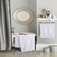 New Plain Weave White Towel Set 3-Pieces Cotton Square Towel Solid Color Luxury Bath Towel For Adults Face Towel High Absorbent(China)