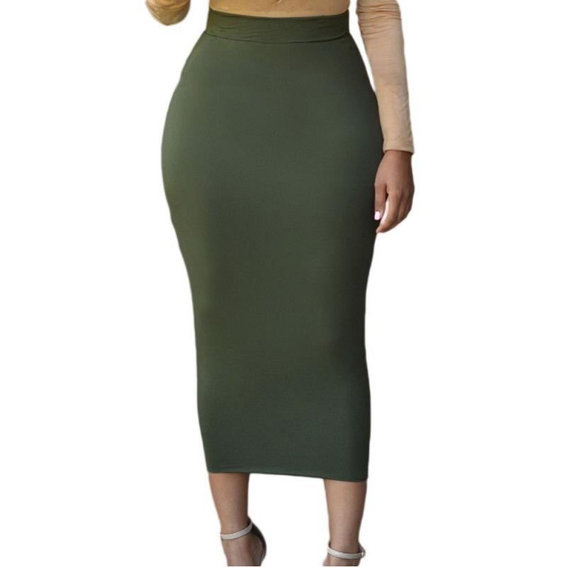 ADEWEL 2017 Sexy Women Bodycon Long Skirt Black High Waist Tight Maxi Skirts Club Party Wear Elegant Pencil Skirt (5)