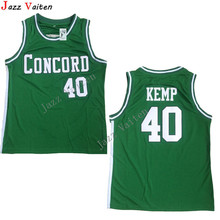 Jazz Vaiten Concord High School Minutemen Away #40 Shawn Kemp Jersey Throwback HS Basketball Jersey Vintage Retro For Mens Shirt(China)
