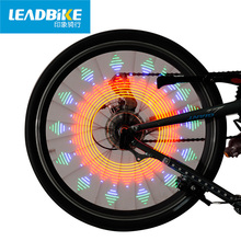 LEADBIKE Hot Wheels Lamp LED Bicycle Light Bike Accessories 2017 Dazzle Color Luz Rueda Bicicleta Red Flashlight For Bicycle