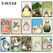 10 pcs/lot Funny Totoro Anime Stickers Toys Japan Anime Cool DIY Bank Bus ID Card Stickers Kids Birthday Party Gifts Toys