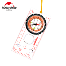 Naturehike Outdoor Camping Directional Cross-country Compass With Scale Ruler Hiking Luminous Compass NH15A001-F