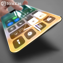 TOMKAS Tempered Glass For iPhone X iPhoneX 3D Curved Soft Edge Full Cover Scratch Proof Screen Protector For iPhone X Glass(China)