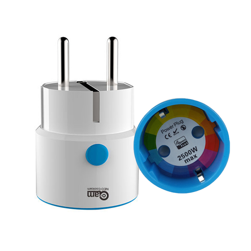 Z Wave EU Smart Power Plug Socket for ZWAVE Home Automation Alarm System NAS-WR01ZE Compatible with Z-wave 300 500 Series<br>