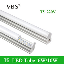 LED Bulbs Tubes T5 1ft 6W 2ft 10W Integrated Led Tubes T5 24LEDs 48LEDs SMD2835 Super Bright Led Fluorescent Lights 220V 240V(China)